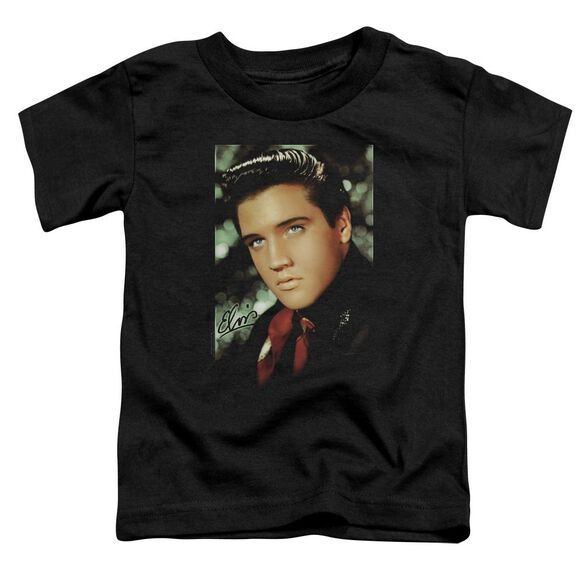 Elvis Red Scarf Short Sleeve Toddler Tee Black Lg T-Shirt