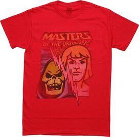 He Man and Skeletor Bolt Split T-Shirt