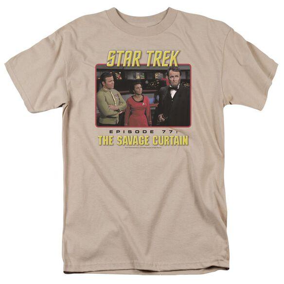 Star Trek The Savage Curtain Short Sleeve Adult Sand T-Shirt
