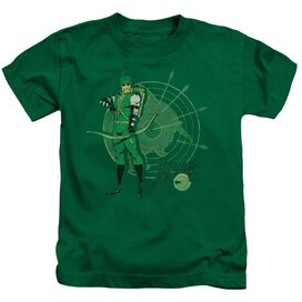 Dc Arrow Target Short Sleeve Juvenile Kelly Green T-Shirt
