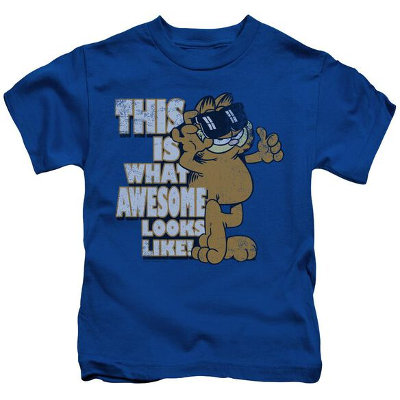GARFIELD AWESOME - S/S JUVENILE 18/1 - ROYAL BLUE - T-Shirt