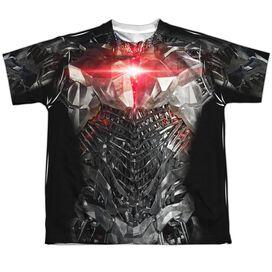 Justice League Movie Cyborg Uniform Short Sleeve Youth Poly Crew T-Shirt