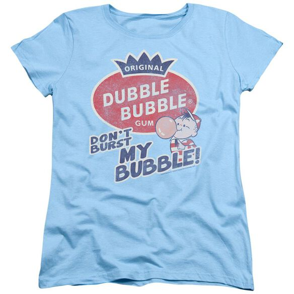 DUBBLE BUBBLE BURST BUBBLE - S/S WOMENS TEE - LIGHT BLUE T-Shirt