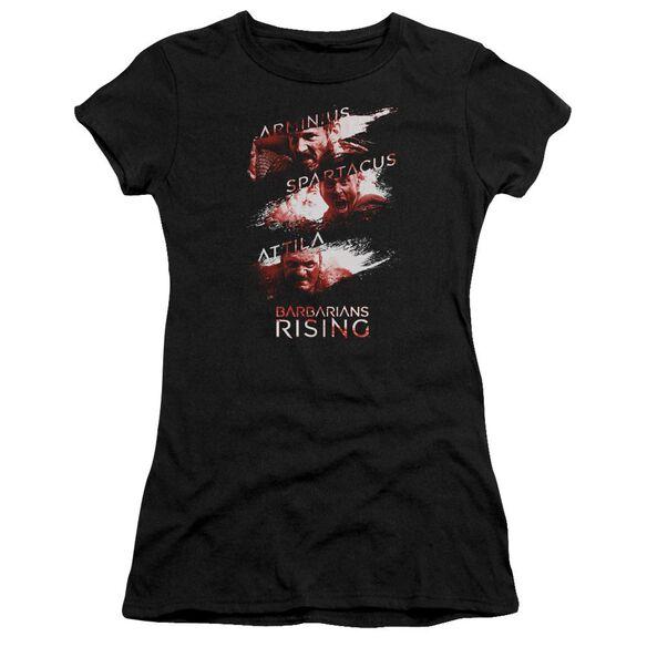 Barbarians Rising Barbarian Splash Hbo Short Sleeve Junior Sheer T-Shirt