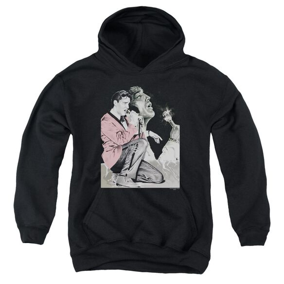 Elvis Presley Rock N Roll Smoke Youth Pull Over Hoodie