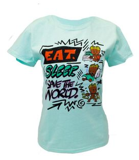 Groot Eat. Sleep. Save the World. Women's Junior T-Shirt