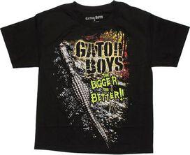 Gator Boys Bigger Better Black Youth T-Shirt