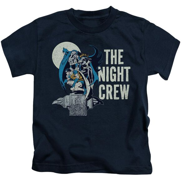 Dc Night Crew Short Sleeve Juvenile Navy T-Shirt