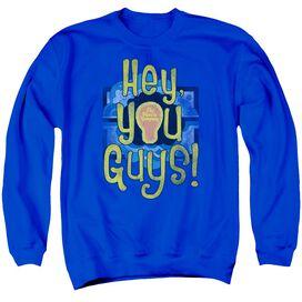 Electric Company Hey You Guys Adult Crewneck Sweatshirt Royal