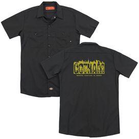 Gotham Silhouettes(Back Print) Adult Work Shirt