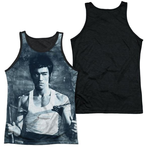 Bruce Lee Nunchucks Adult Poly Tank Top Black Back