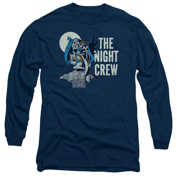 Dc Night Crew Long Sleeve Adult T-Shirt