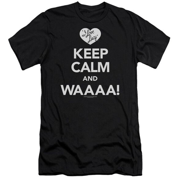 I Love Lucy Keep Calm Waaa Premuim Canvas Adult Slim Fit