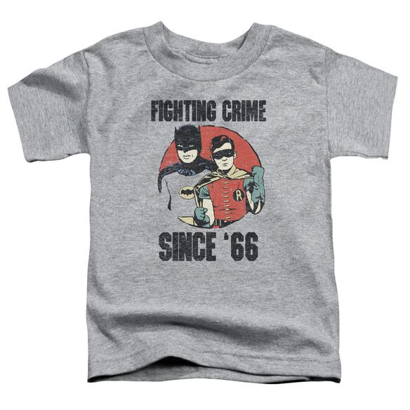 Batman Classic Tv Since 66 Short Sleeve Toddler Tee Athletic Heather T-Shirt