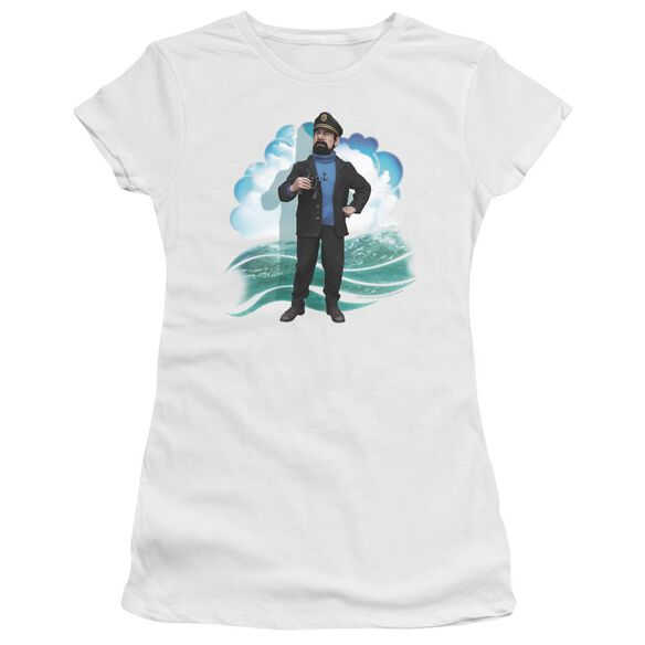 Tintin Haddock Short Sleeve Junior Sheer T-Shirt