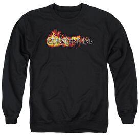 Constantine Logo In Flames Adult Crewneck Sweatshirt