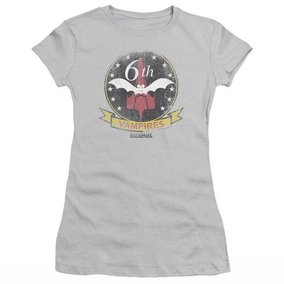 BSG VAMPIRES BADGE - S/S JUNIOR SHEER - SILVER T-Shirt