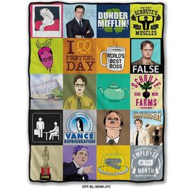 The Office Sticker Throw Blanket