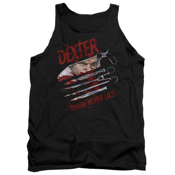Dexter Blood Never Lies - Adult Tank - Black