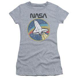 Nasa Shuttle Short Sleeve Junior Sheer Athletic T-Shirt