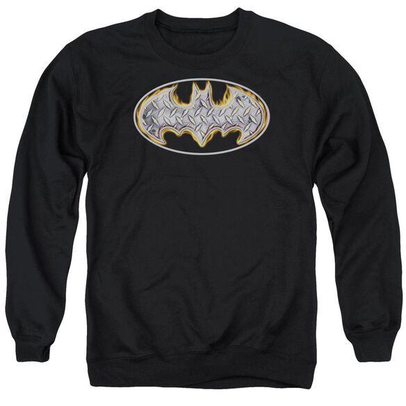 Batman Steel Fire Shield Adult Crewneck Sweatshirt
