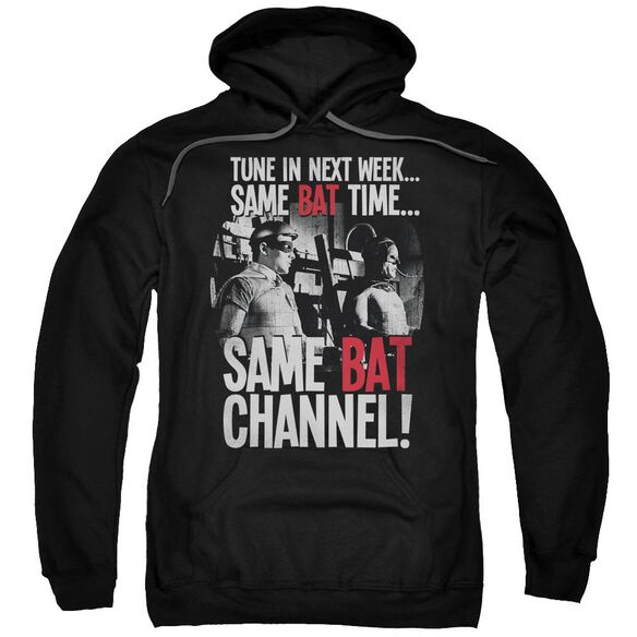 Batman Classic Tv Bat Channel Adult Pull Over Hoodie