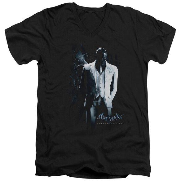 Batman Arkham Origins Mask Short Sleeve Adult V Neck T-Shirt