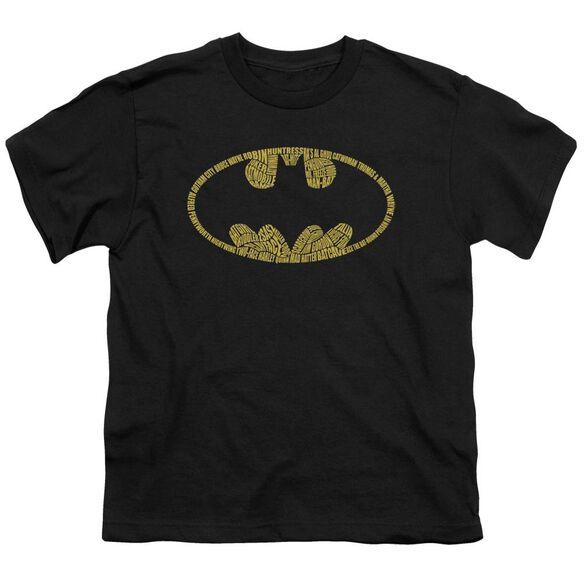 BATMAN WORD LOGO - S/S YOUTH 18/1 - BLACK T-Shirt