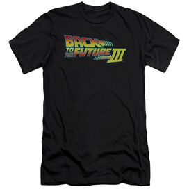 BACK TO THE FUTURE III LOGO - S/S ADULT 30/1 - BLACK - 2X - BLACK T-Shirt