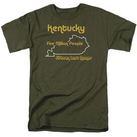 Kentucky Short Sleeve Adult Military Green T-Shirt
