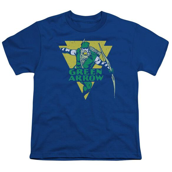 Dc Distressed Arrow Short Sleeve Youth Royal T-Shirt