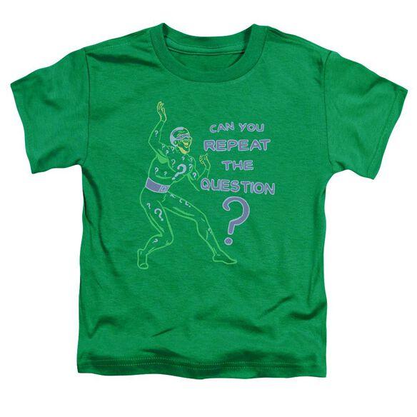 Batman Repeat Short Sleeve Toddler Tee Kelly Green Sm T-Shirt