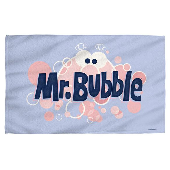 Mr Bubble Eye Logo Face Hand Towel