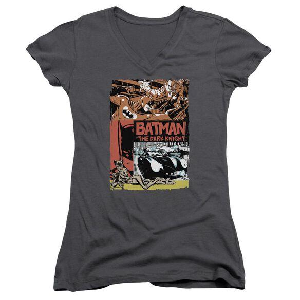 Batman Old Movie Poster Junior V Neck T-Shirt