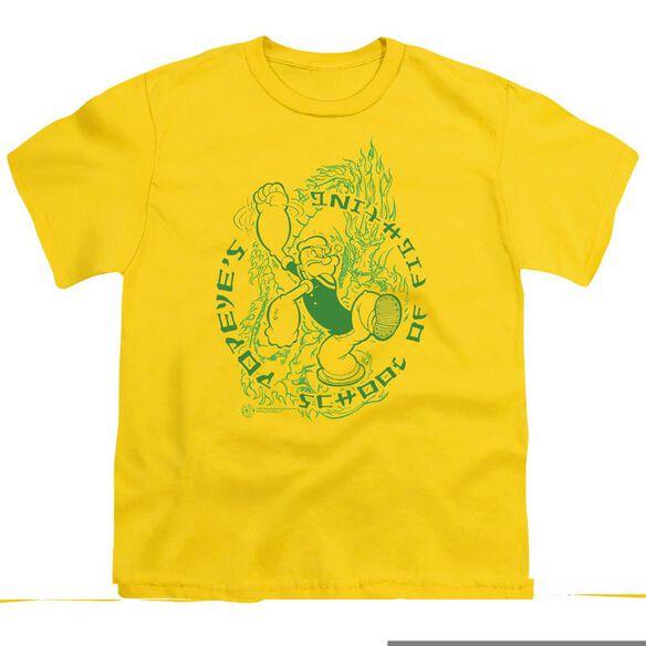 POPEYE POPEYES FIGHTIN SCHOOL - S/S YOUTH 18/1 - YELLOW T-Shirt