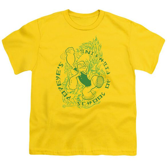 Popeye Popeye's Fightin' School Short Sleeve Youth T-Shirt