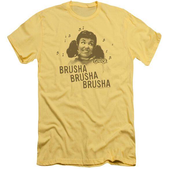 Grease Brusha Brusha Brusha Short Sleeve Adult T-Shirt