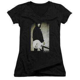 Joan Jett Turn Junior V Neck T-Shirt