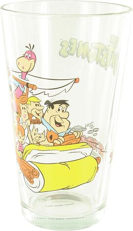 Flintstones Car Group Pint Glass