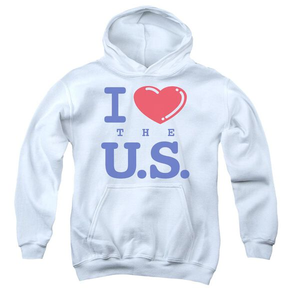 I Love The Us Youth Pull Over Hoodie