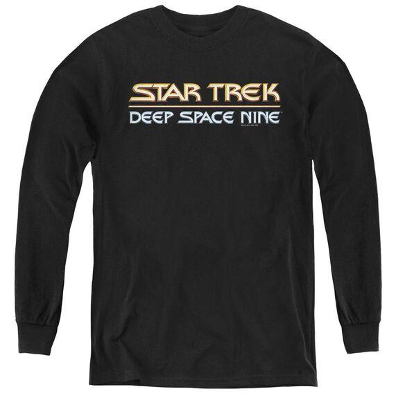 Star Trek Deep Space Nine Logo - Youth Long Sleeve Tee - Black