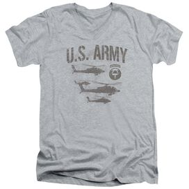 Army Airborne Short Sleeve Adult V Neck Athletic T-Shirt