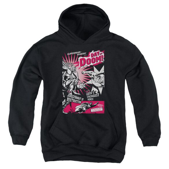 Superman Day Of Doom Youth Pull Over Hoodie