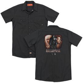 Bsg Created By Man (Back Print) Adult Work Shirt