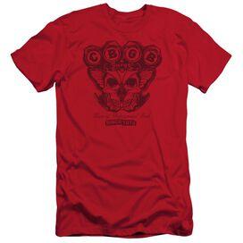 Cbgb Moth Skull Short Sleeve Adult T-Shirt