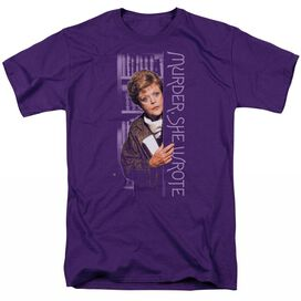 MURDER SHE WROTE AROUND THE CORNER - S/S ADULT 18/1 - PURPLE T-Shirt