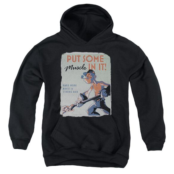Popeye Hard Work Youth Pull Over Hoodie