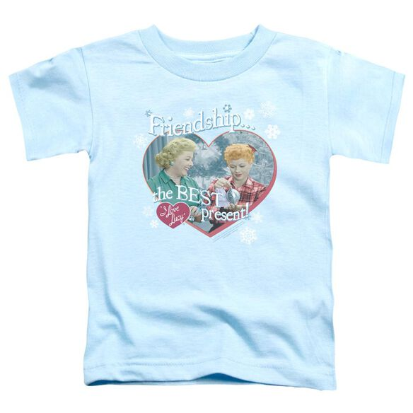 I Love Lucy The Best Present Short Sleeve Toddler Tee Light Blue T-Shirt