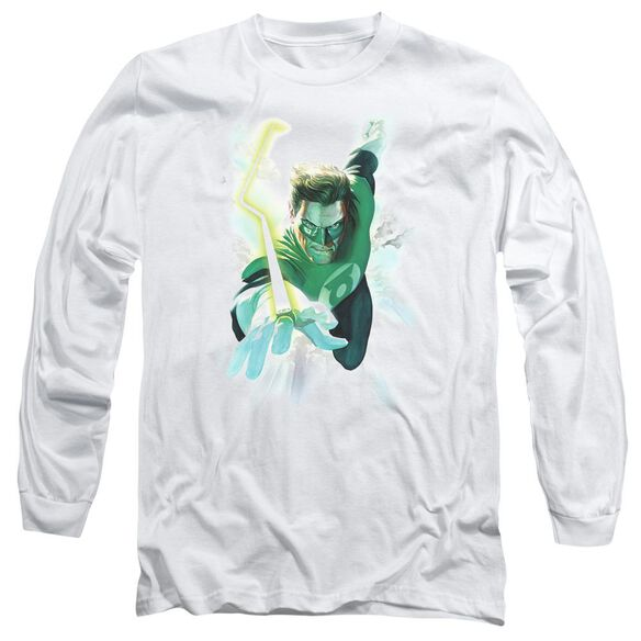 Green Lantern Clouds Long Sleeve Adult T-Shirt