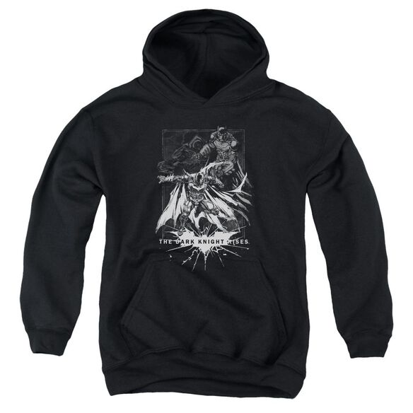 Dark Knight Rises Rising Sketch Youth Pull Over Hoodie